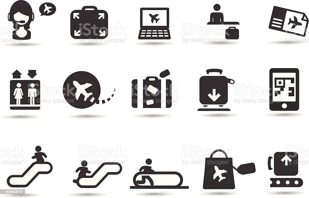 Airport Symbols vector art illustration