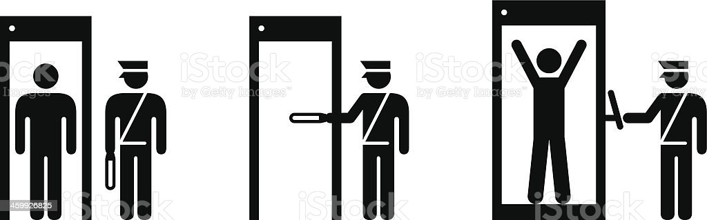 Airport Transport Security vector art illustration