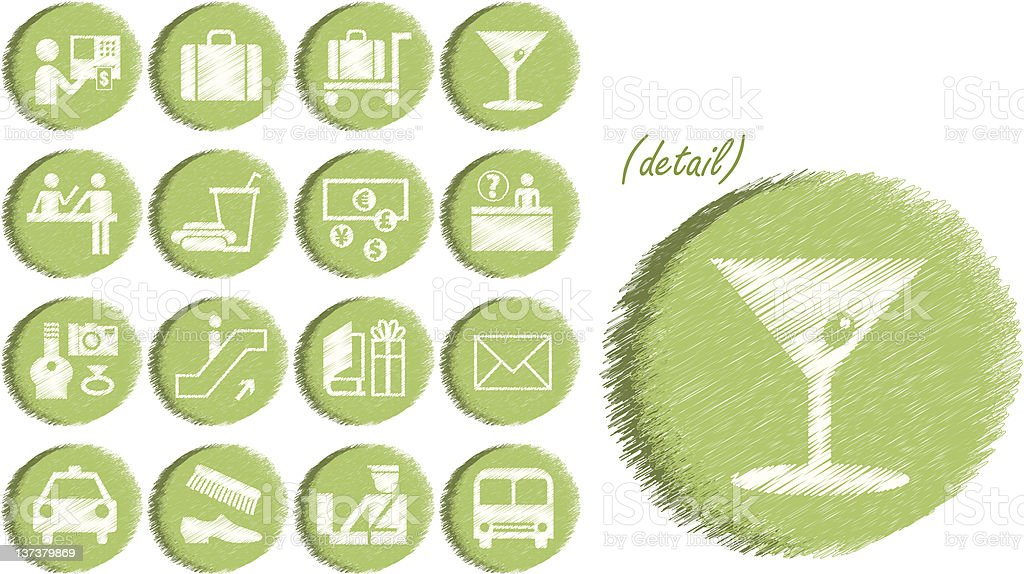 Airport / Travel Icons - Vector File royalty-free stock vector art