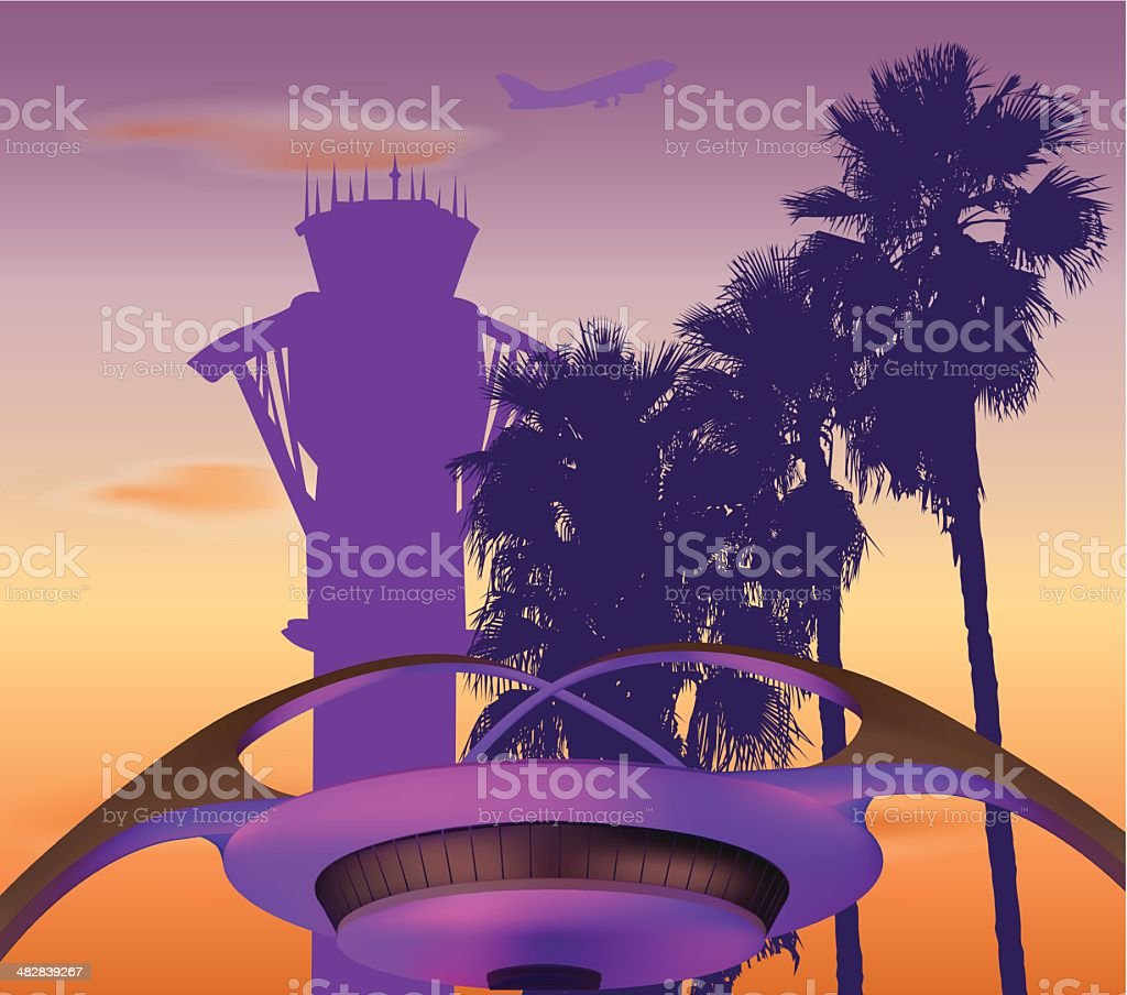 LAX Airport royalty-free stock vector art