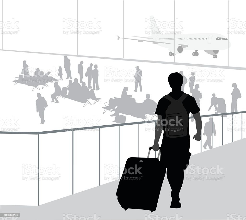 AirportConnectionFlight vector art illustration