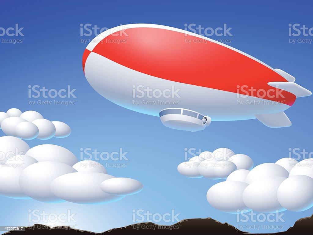 airship royalty-free stock vector art
