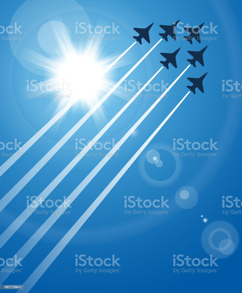 Airshow vector art illustration