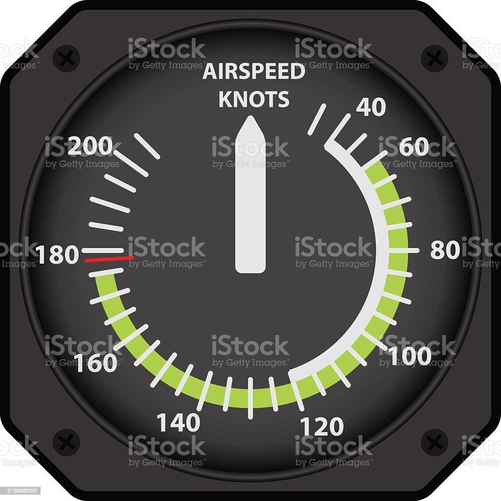 Airspeed indicator vector art illustration