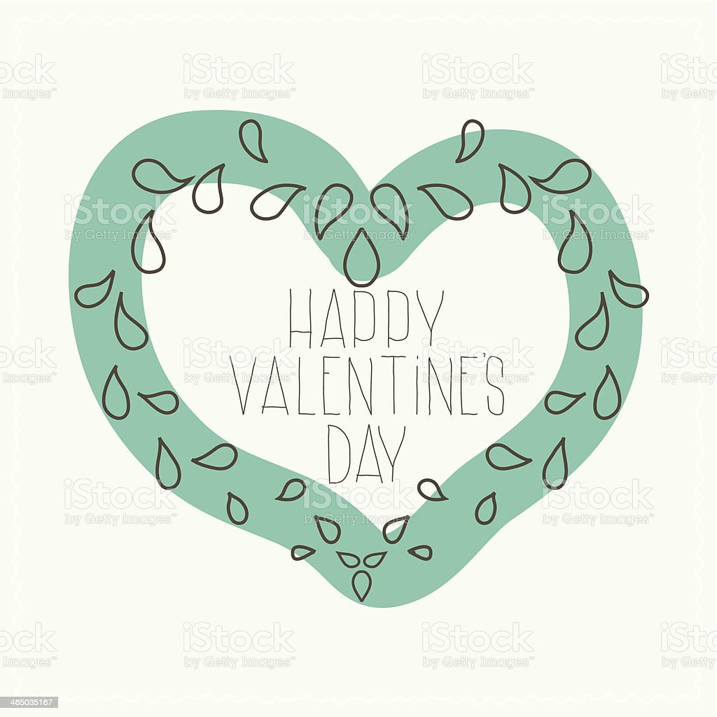 Airy design in Valentine's Day royalty-free stock vector art