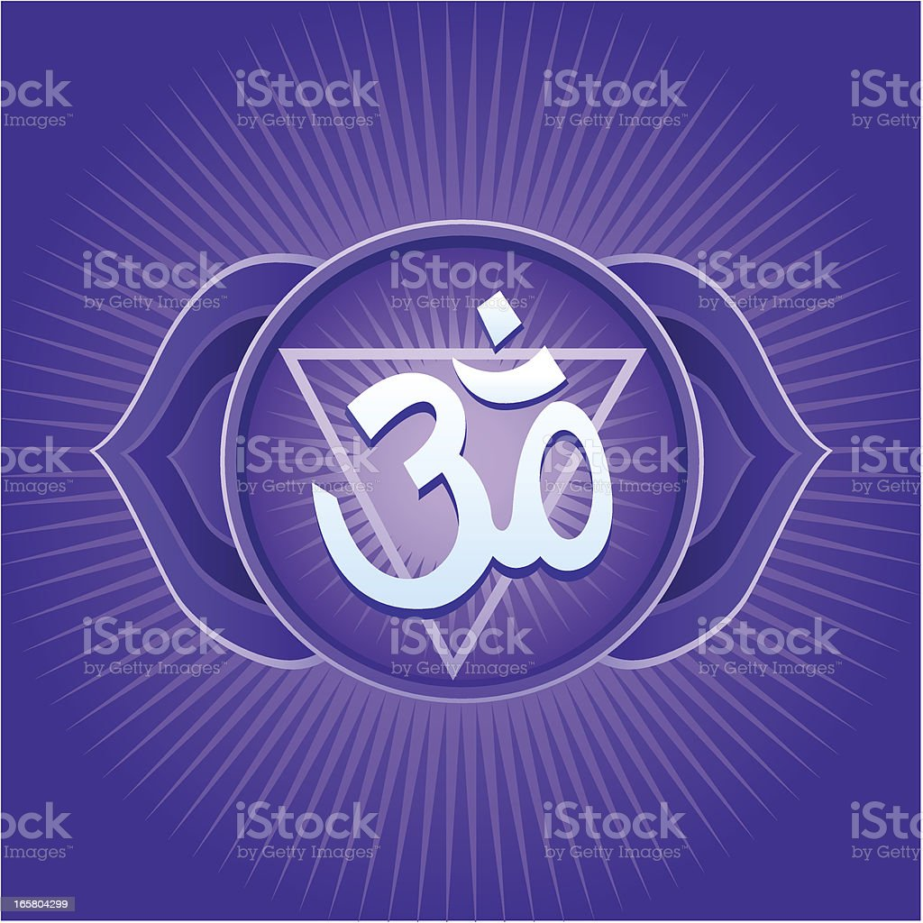 Ajna Chakra royalty-free stock vector art
