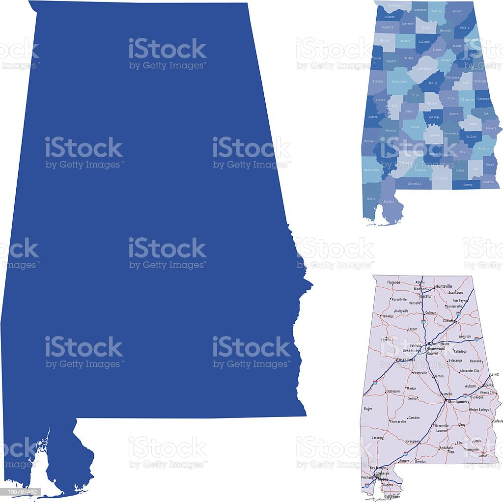 Alabama royalty-free stock vector art