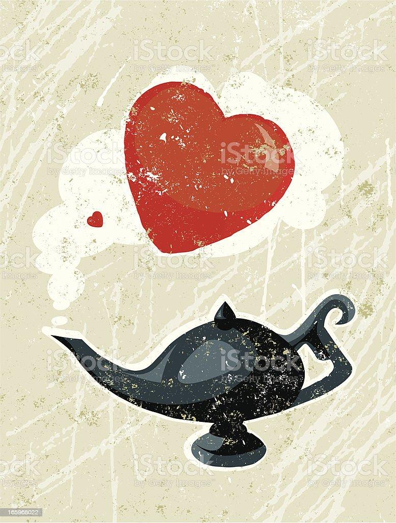 Aladdin's Lamp and Heart royalty-free stock vector art