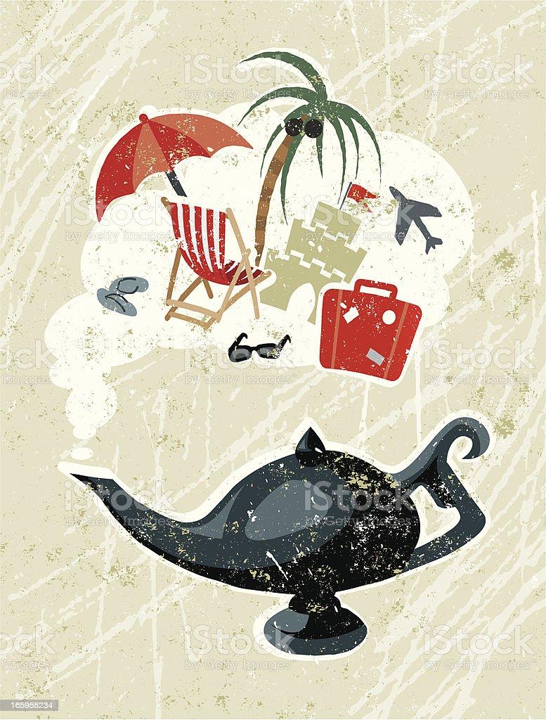 Aladdin's Lamp and Holiday Symbols royalty-free stock vector art