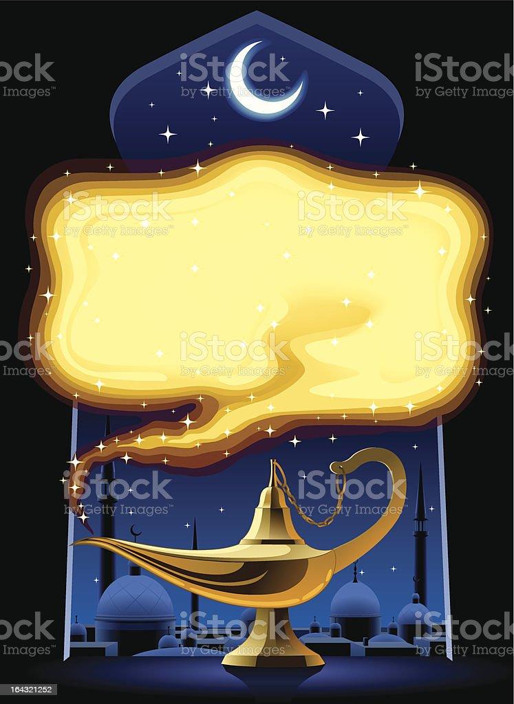 Aladdin's Magic Lamp royalty-free stock vector art