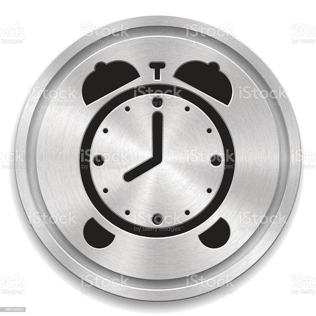 Alarm clock button royalty-free stock vector art