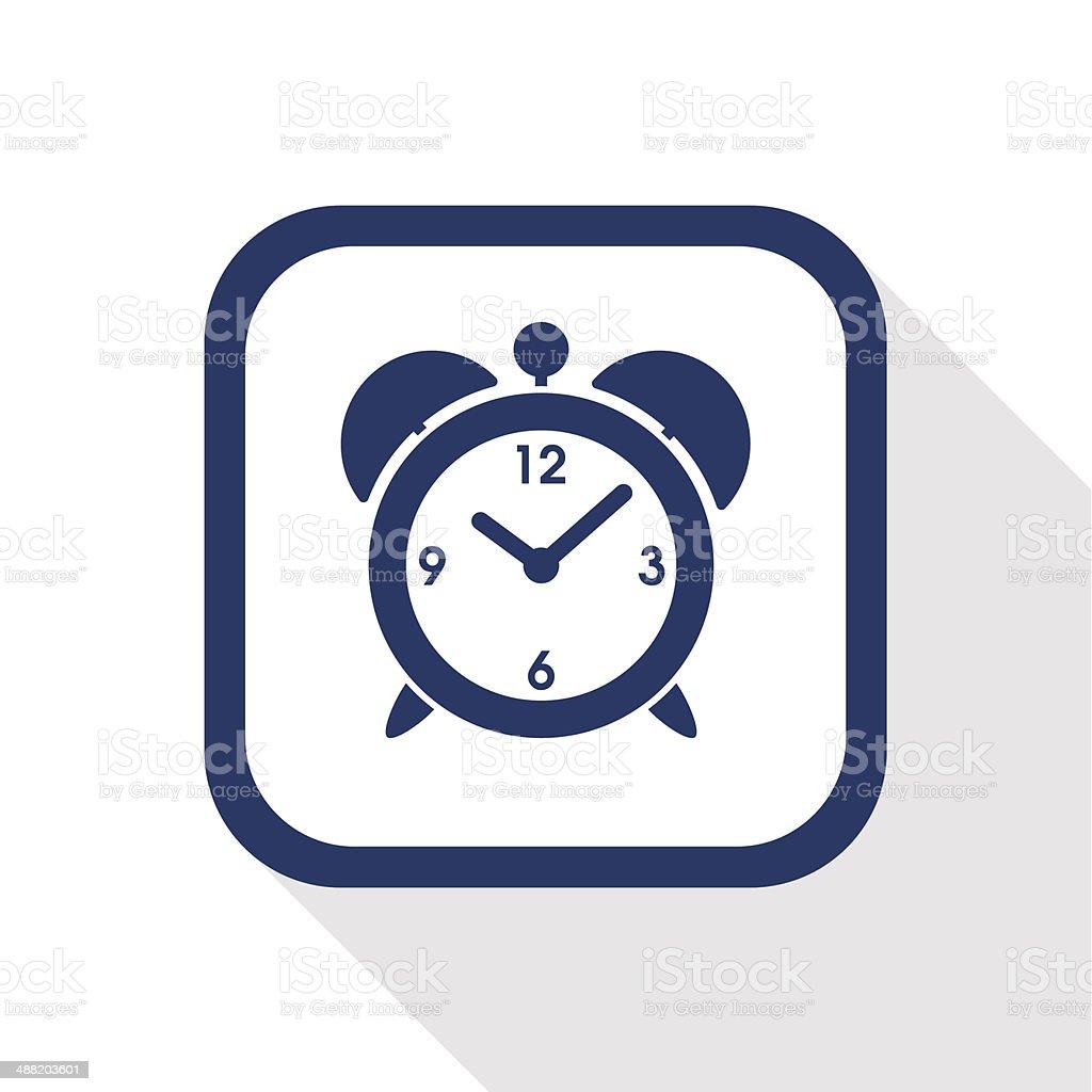 alarm clock flat icon vector art illustration
