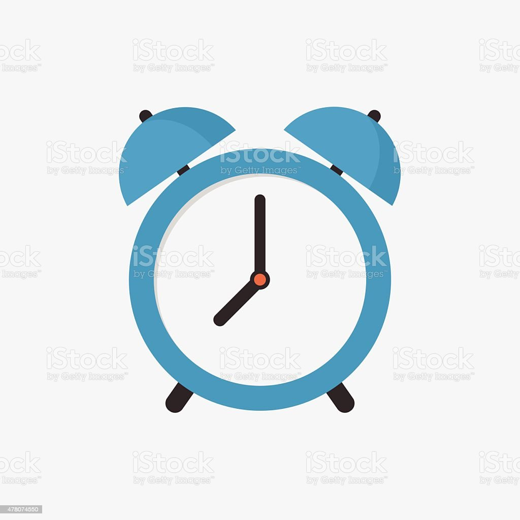Alarm clock icon, modern minimal flat design style, vector illustration vector art illustration