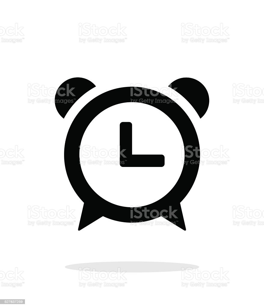 Alarm clock icon on white background. vector art illustration