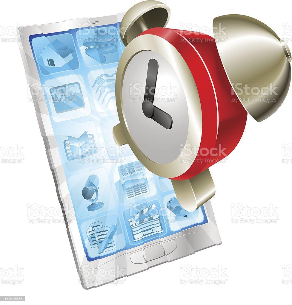 Alarm clock icon phone concept royalty-free stock vector art