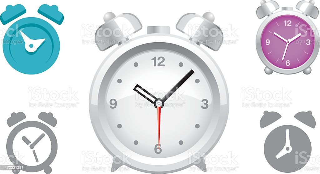 Alarm Clock icons royalty-free stock vector art