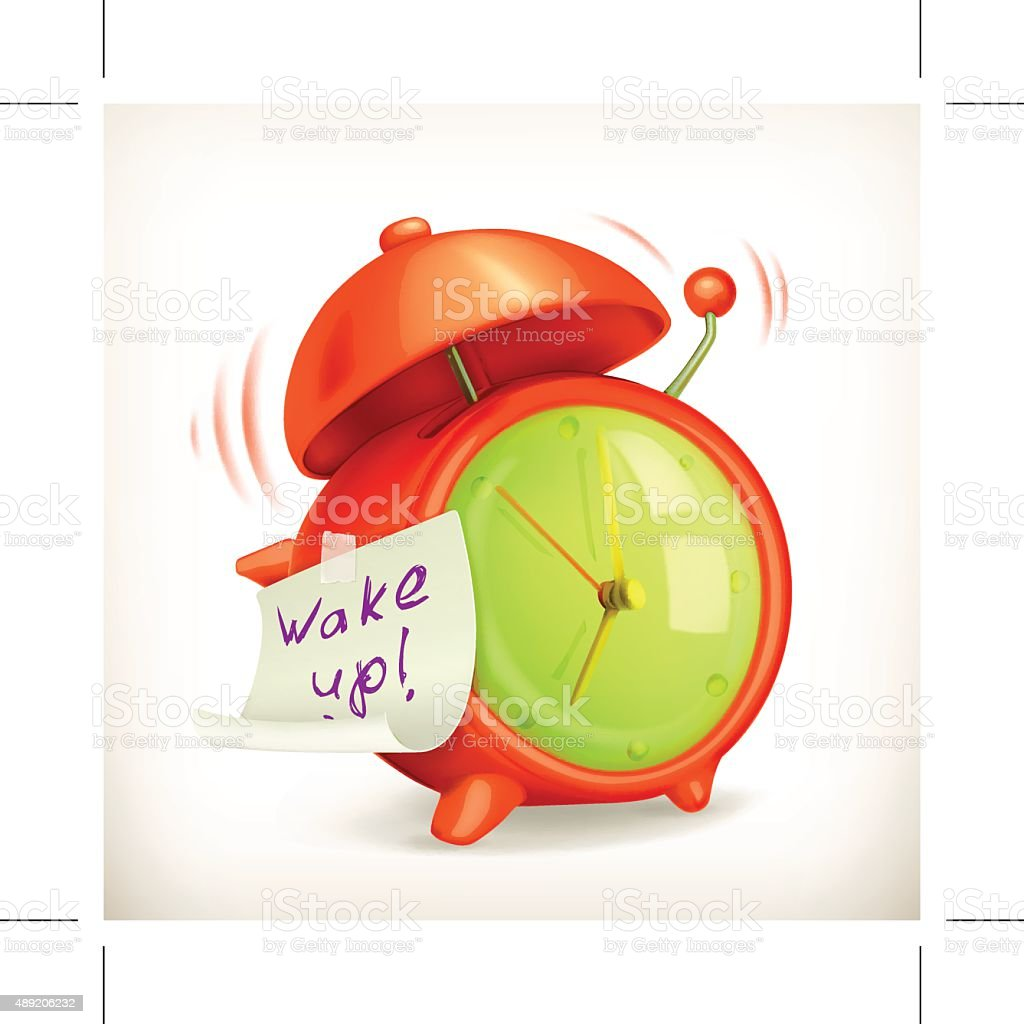 Alarm clock vector icon vector art illustration