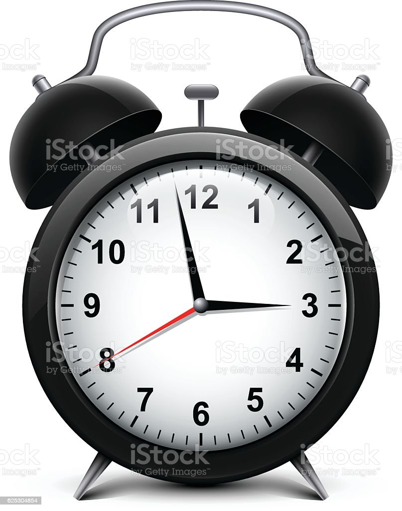Alarm clock vector art illustration