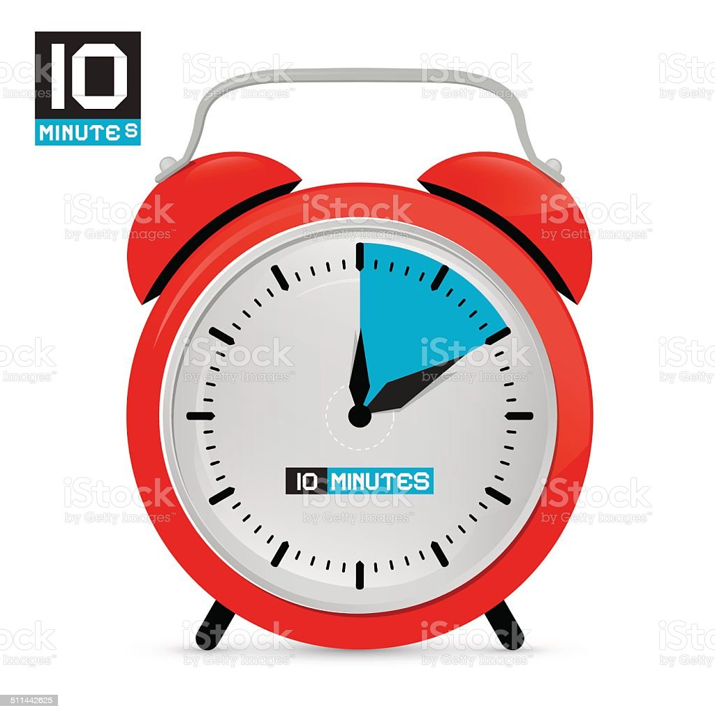 Alarm Clock Vector Illustration vector art illustration