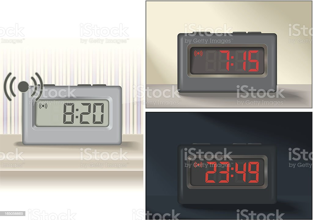 Alarm Clocks royalty-free stock vector art