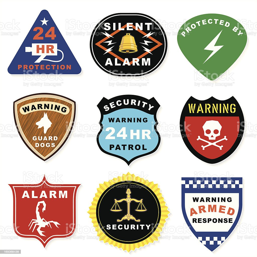 Alarm Warnings royalty-free stock vector art