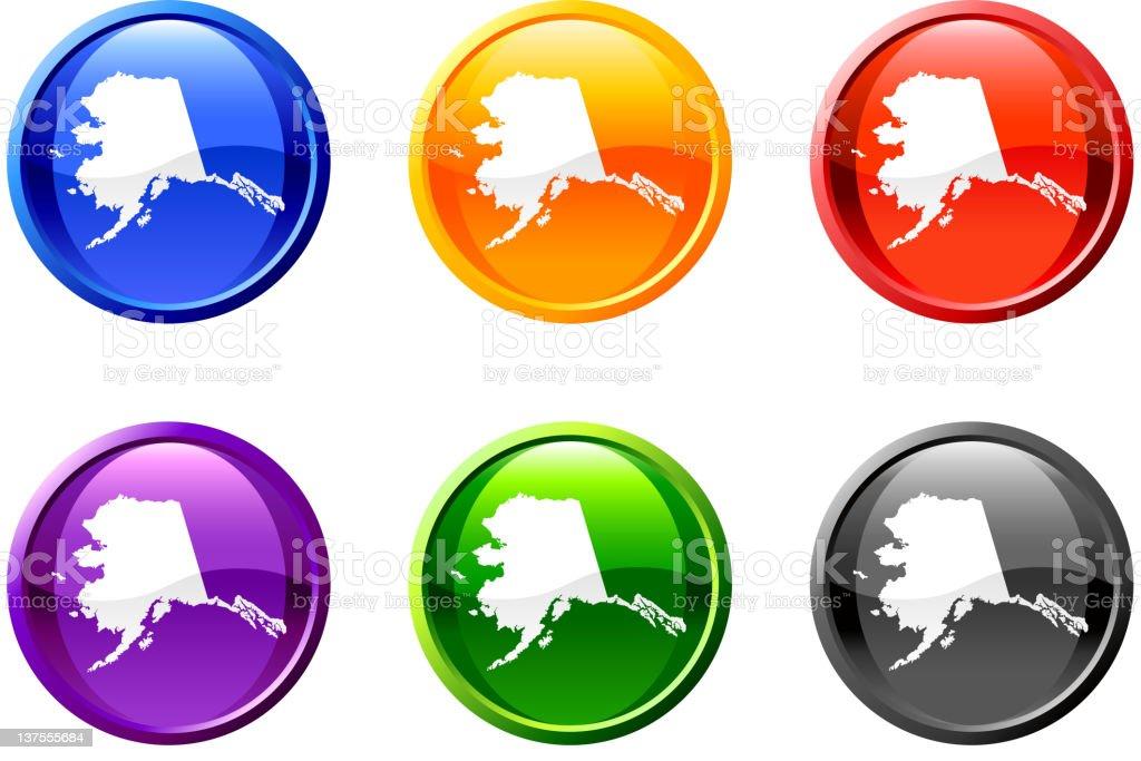 Alaska button royalty free vector art royalty-free stock vector art