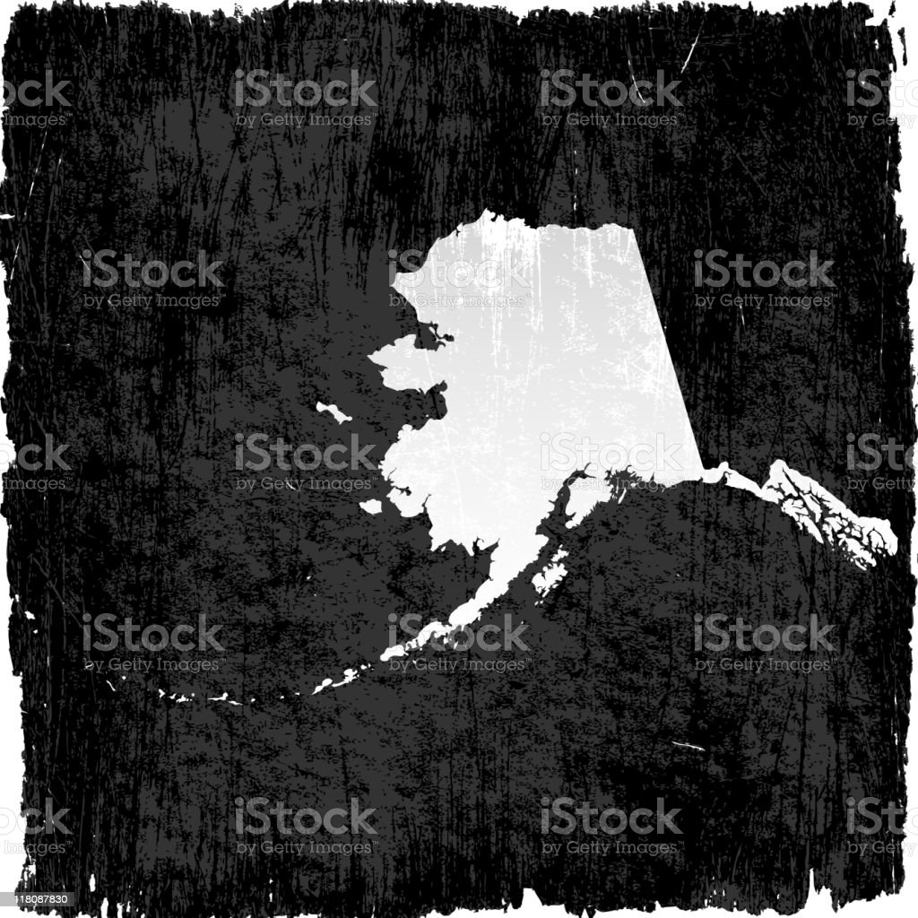 Alaska map on royalty free vector Background royalty-free stock vector art