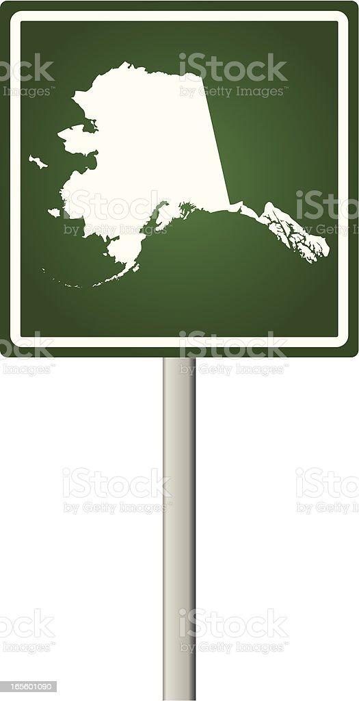 Alaska Sign royalty-free stock vector art