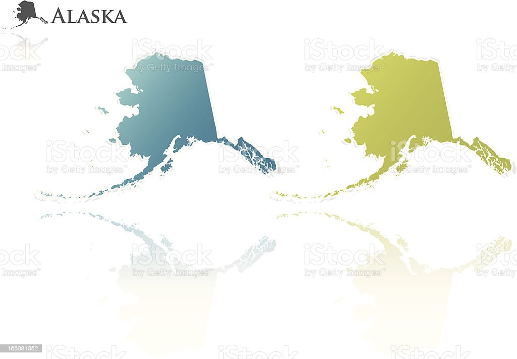 alaska state graphic royalty-free stock vector art