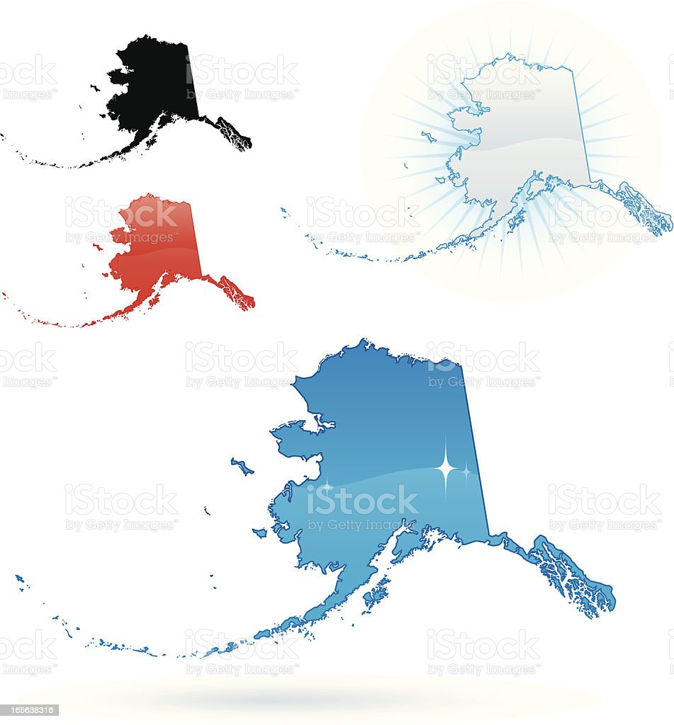Alaska State royalty-free stock vector art