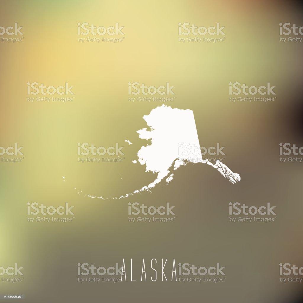 Alaska vector art illustration