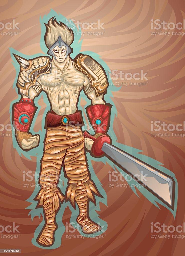 Alastor_fiction_character_warrior vector art illustration