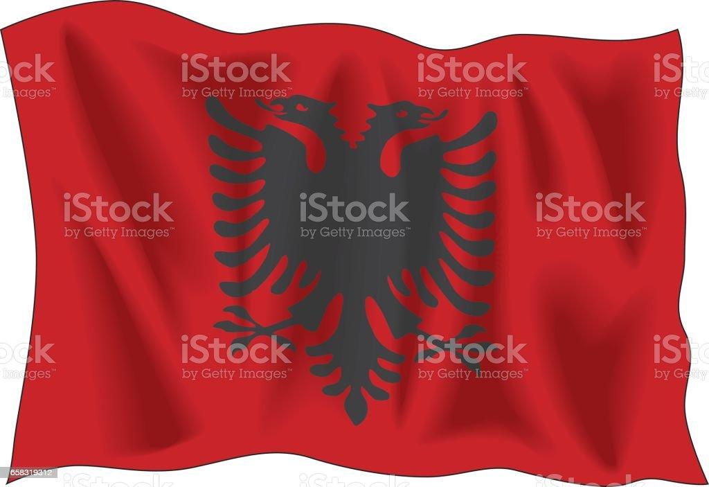 Albanian flag vector art illustration