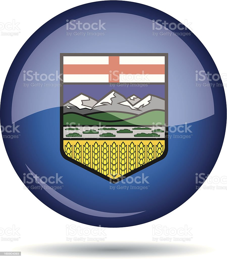 Alberta flag royalty-free stock vector art