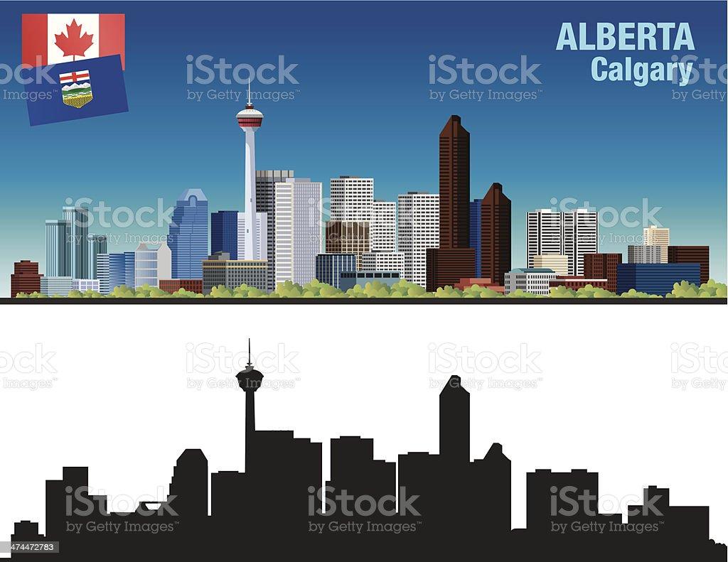 Alberta-Calgary vector art illustration