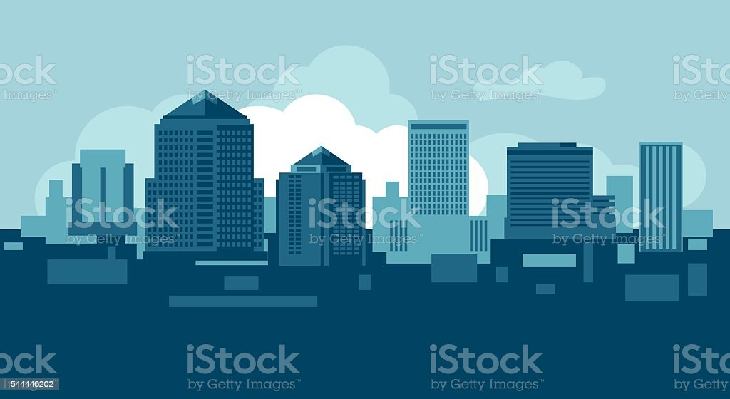 Albuquerque skyline vector art illustration