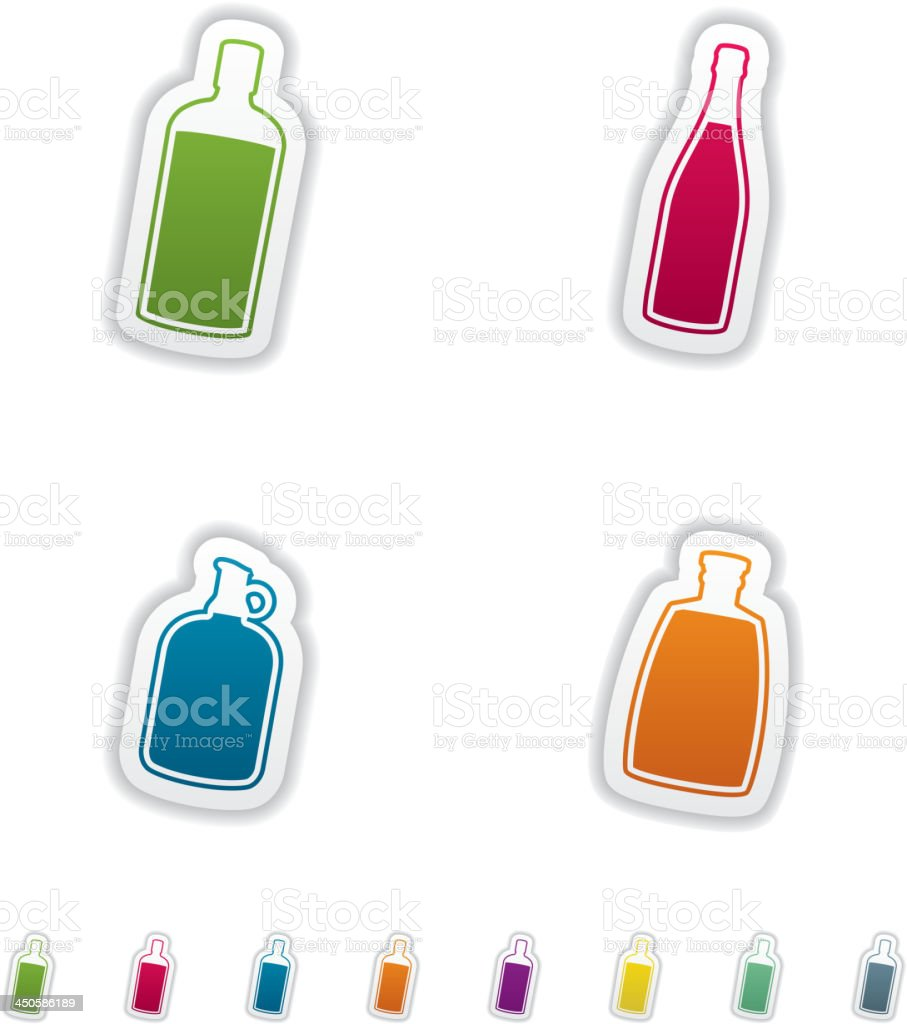 Alcohol bottles royalty-free stock vector art