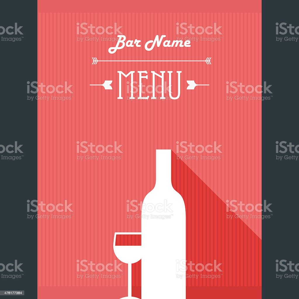 Alcohol Drinks Restaurant Menu Template Wine Bar Background With – Drinks Menu Template Free