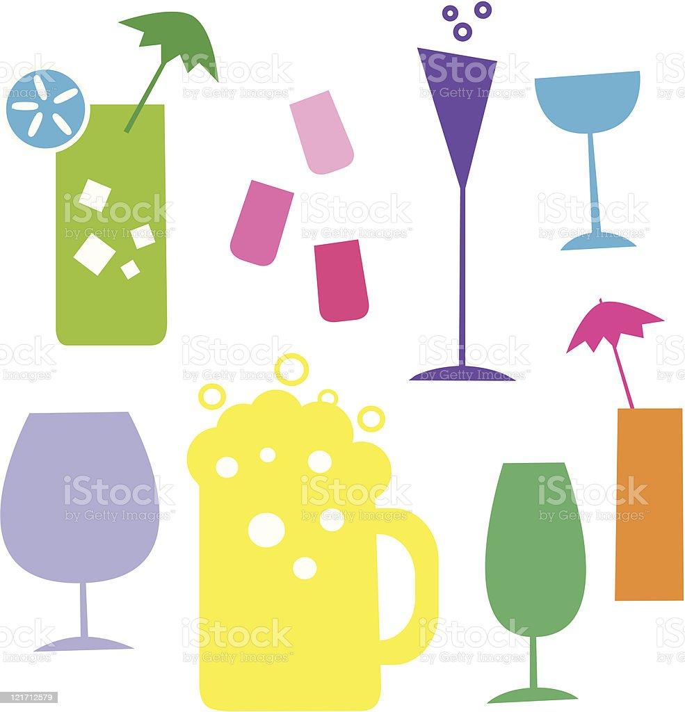 alcohol glasses illustration vector art illustration