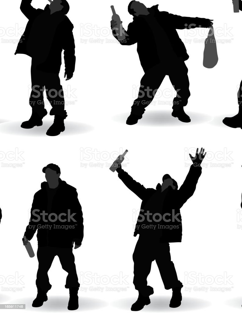 Alcoholic and Trump Silhouette royalty-free stock vector art