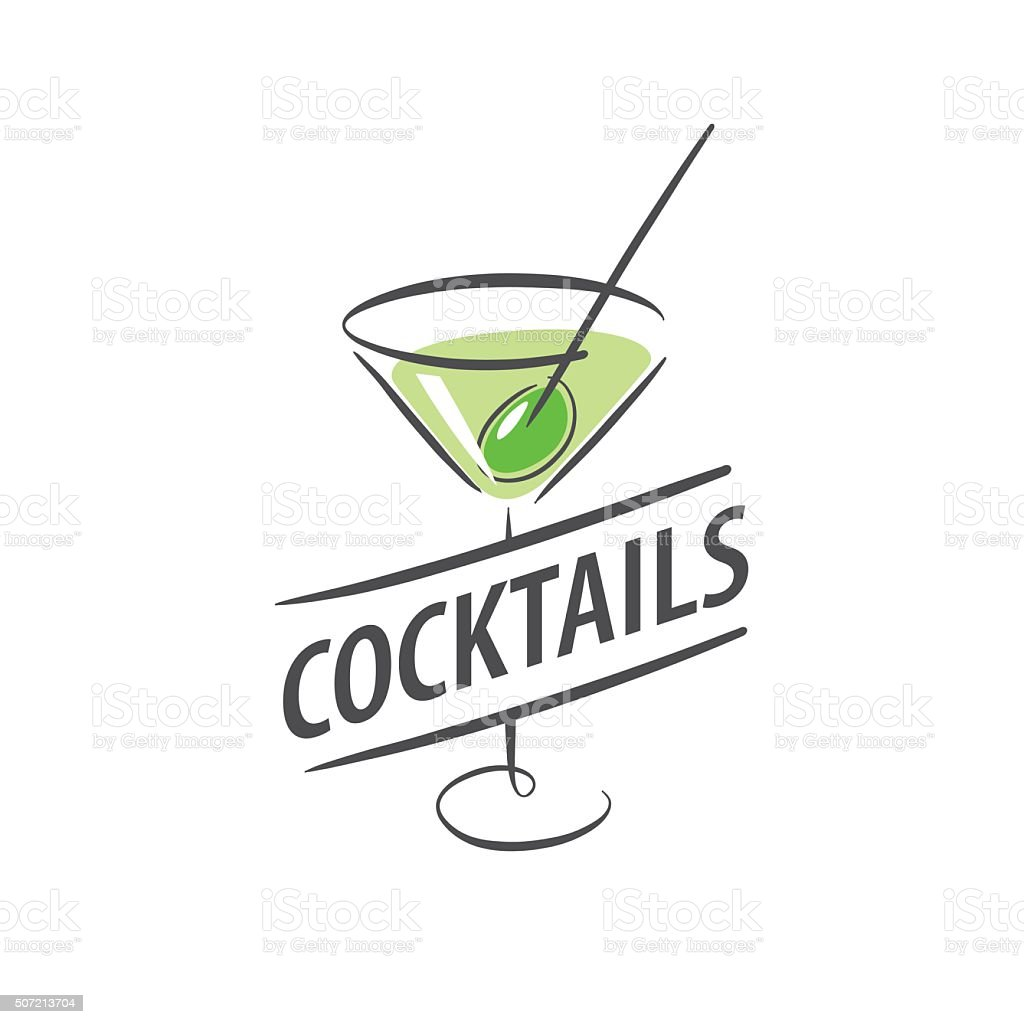 alcoholic cocktails icon vector art illustration