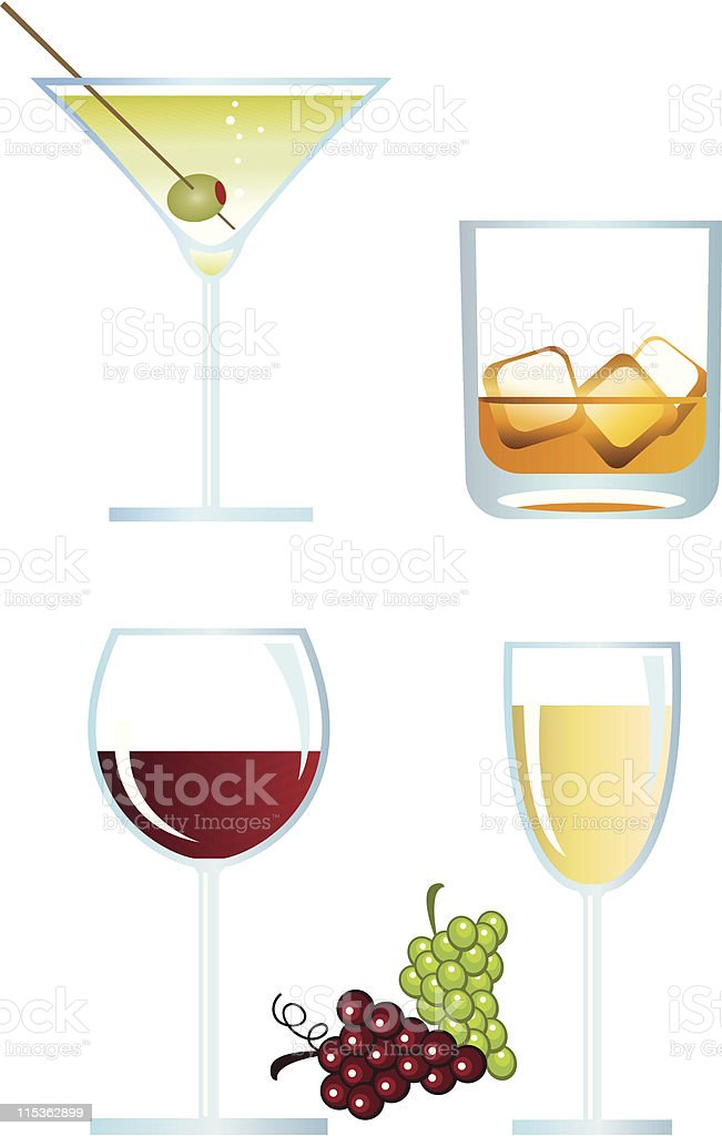 Alcoholic Drinks royalty-free stock vector art