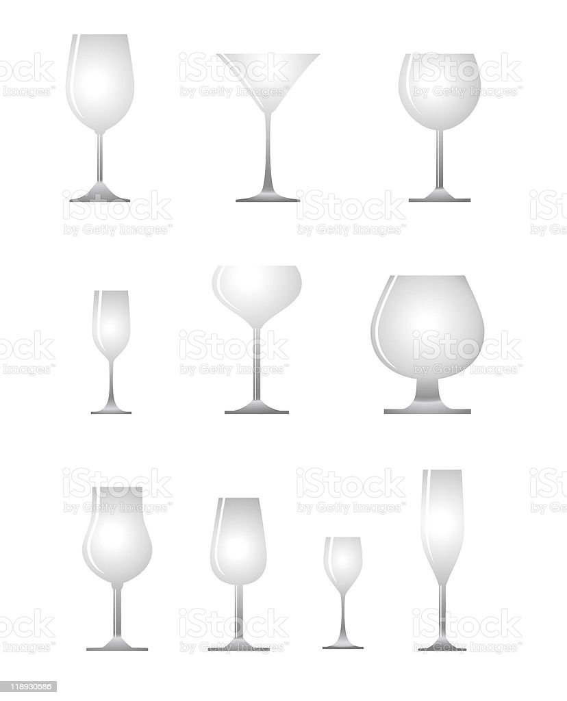 alcoholic glass royalty-free stock vector art