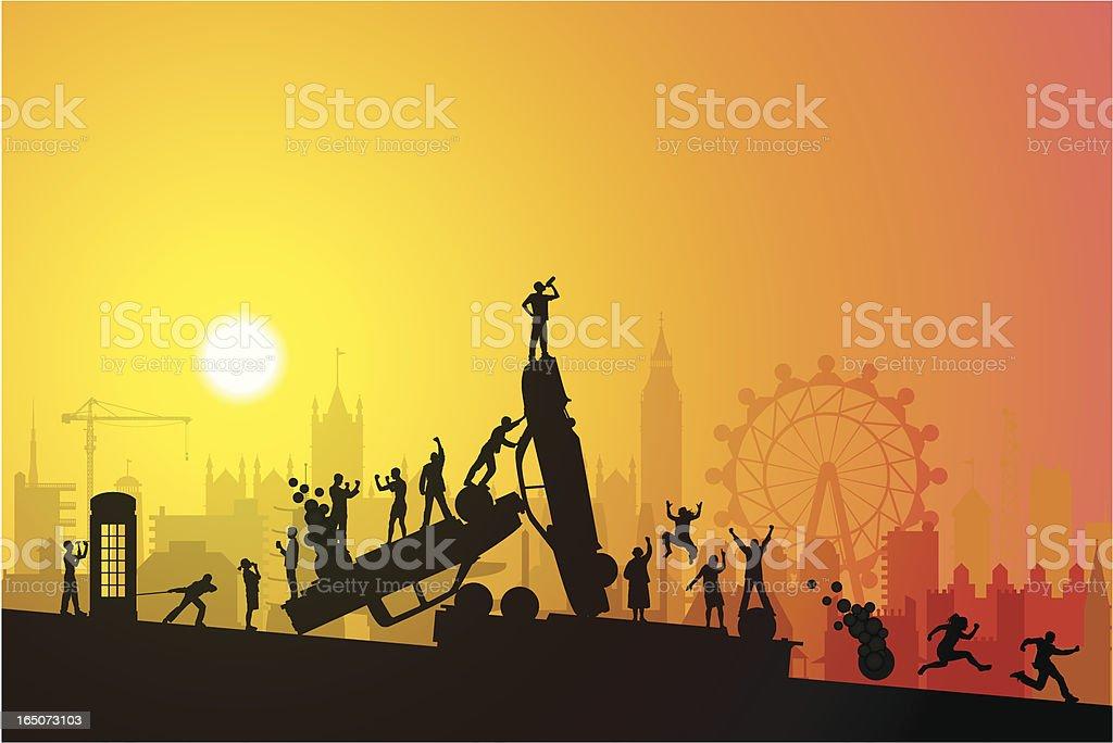 Alcoholic London royalty-free stock vector art