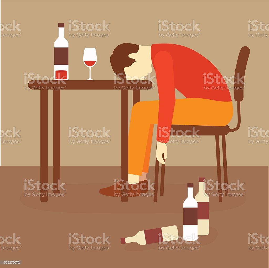 alcoholic vector art illustration