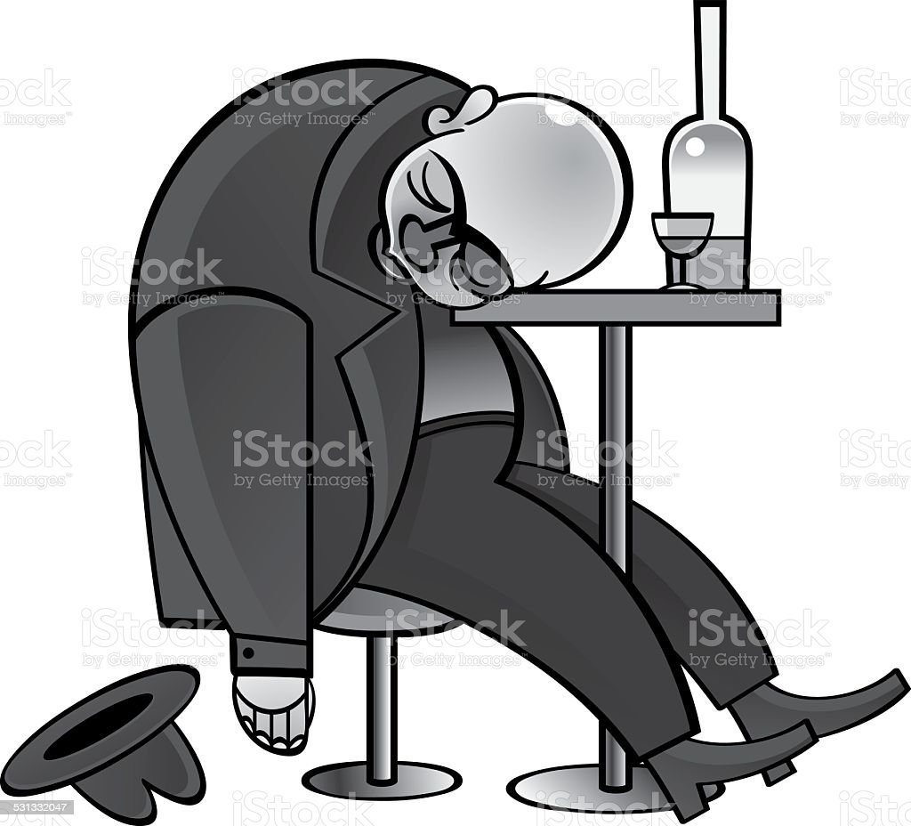 Alcoholic vector art illustration
