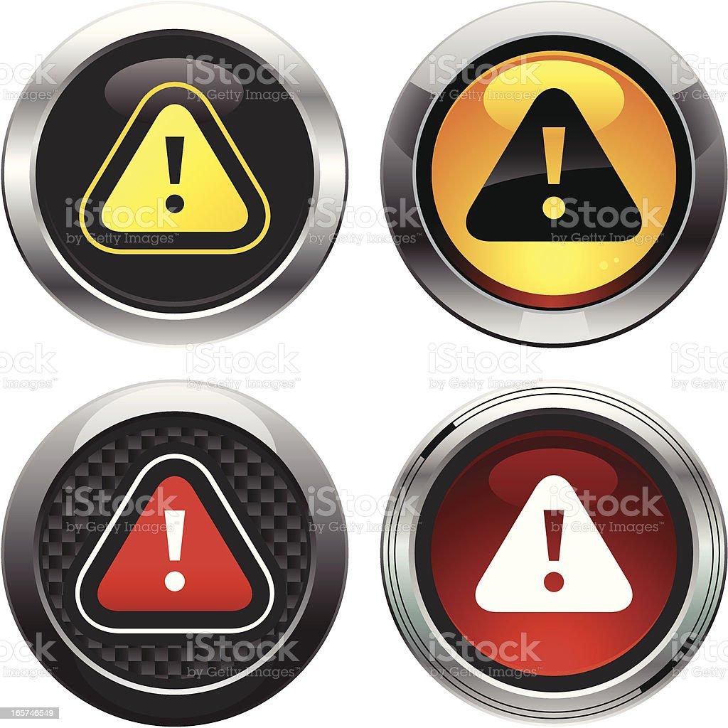 Alert Buttons royalty-free stock vector art