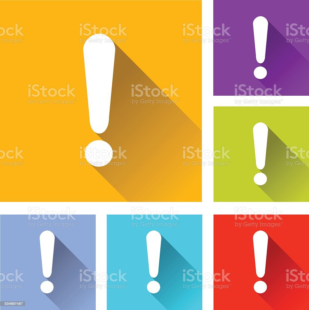 alert icons vector art illustration