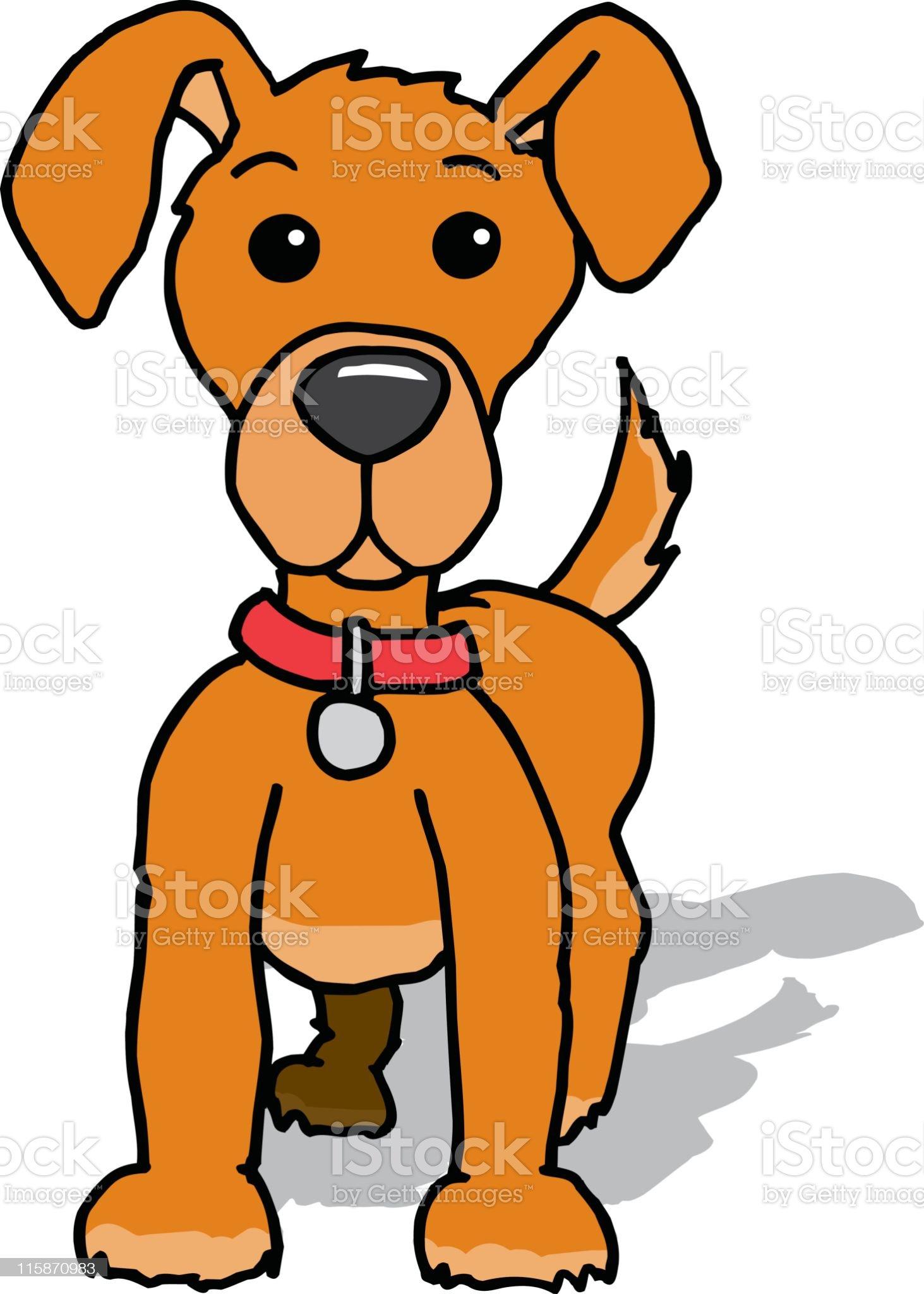 Alert Puppy royalty-free stock vector art
