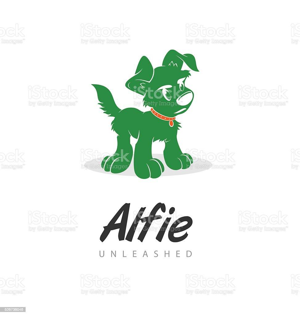 Alfie vector art illustration